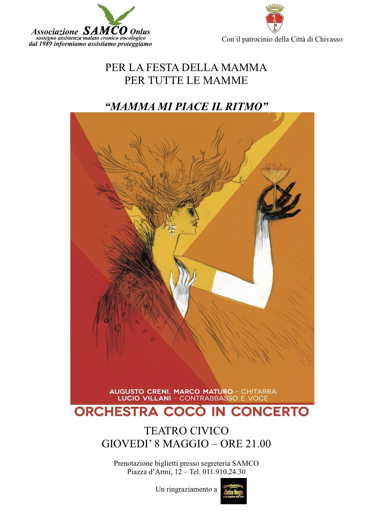 Locandina A4 ConcertoCocoNegro